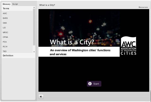 WhatIsACityeLearningScreenshot